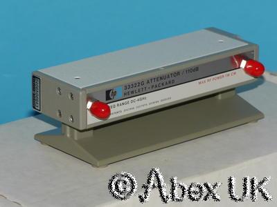 HP (Agilent) 33322G Step Attenuator, 0-110dB, 10dB Steps NOS