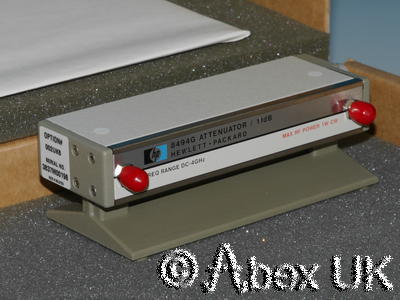 HP (Agilent) 8494G Step Attenuator, 0-11dB, 1dB Steps with Calibration NOS (2)