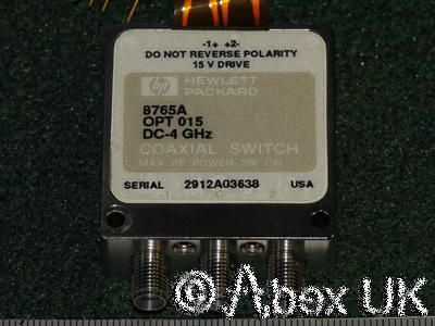 HP (Agilent) 8765A SMA SPDT Microwave RF Switch 18GHz*