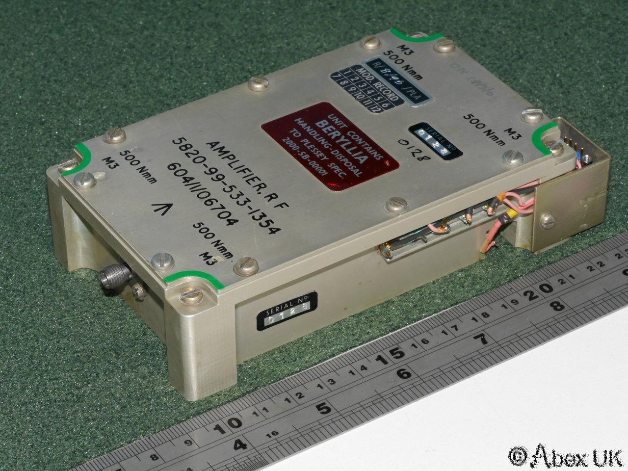 Plessey Pla100l Rf Power Amplifier Uhf 225 400mhz 100 Watts Sma Amp