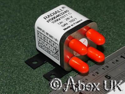 Radiall R566463240 Mechanical Trasfer Microwave RF Switch SMA 18GHz 28V NOS