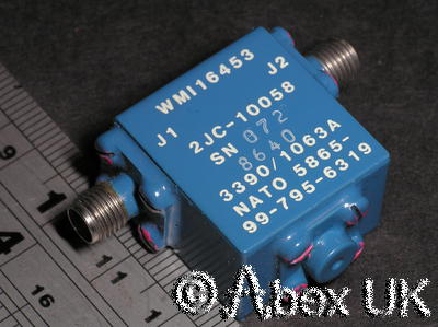Western Microwave 2JC10058 Broadband Isolator 6.0 - 12GHz SMA Certified