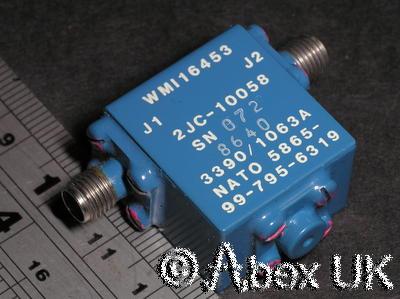 Western Microwave 2JC10058 Broadband Isolator 6.0 - 12GHz SMA Certified
