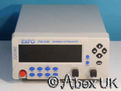 EXFO FVA-3100 Optical 100dB Programmable Variable Attenuator 700-1350nm GPIB