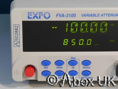 EXFO FVA-3100 Optical 100dB Programmable Variable Attenuator 700-1350nm GPIB