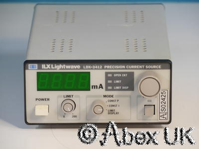 ILX Lightwave LDX-3412 6V 200mA Precision Current Source (Laser Diode Driver)