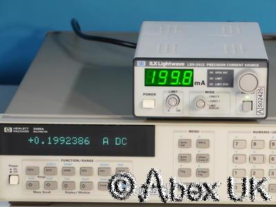 ILX Lightwave LDX-3412 6V 200mA Precision Current Source (Laser Diode Driver)