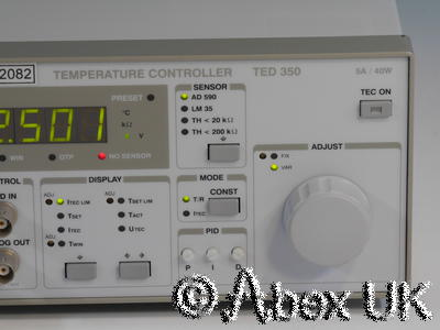 Profile (Thor Labs) TED350 Temperature Controller (TEC) +/- 5A 40W with GPIB
