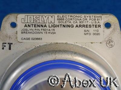 Joslyn F5014-15 15kV Lightning Arrester LF/HF antenna NOS
