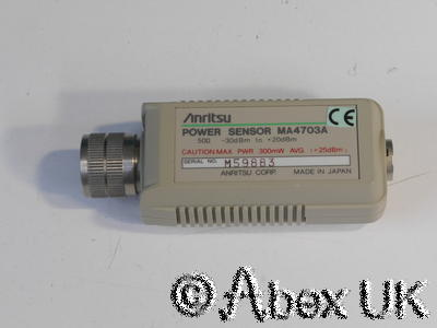 Anritsu ML4803A MA4703A MA4704A 26.5GHz RF Power Meter cable and Sensors 3.5mm