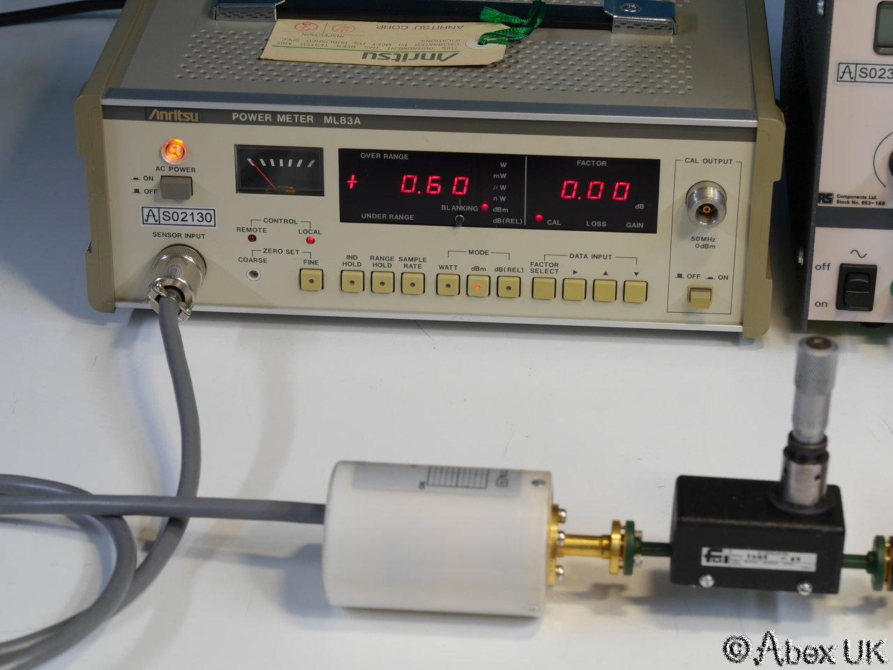 Rf Power Meter : Anritsu ml a rf power meter mint condition