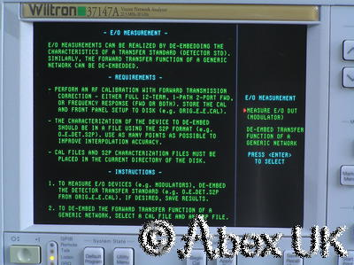 Wiltron (Anritsu) 37147A 20GHz Vector Network Analyser (VNA) Analyzer