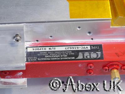 CPI (Varian) VZC6961K4, 4.7 - 9.3GHz 20 Watt TWTA Travelling Wave Amplifier (1)