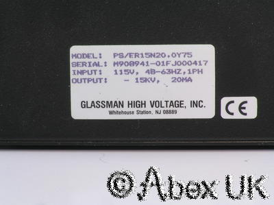 Glassman ER 15N20 High Voltage Power Supply 0-15kV 0-20mA 300w Applied Materials
