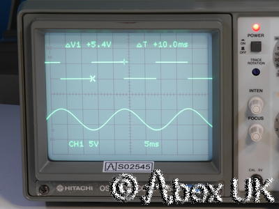 Hitachi V-525 50MHz Dual Channel Oscilloscope On Screen Cursor Readout TV Trig