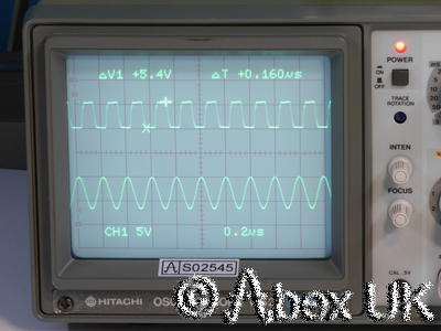 Hitachi V-525 50MHz Dual Channel Oscilloscope On Screen Cursor Readout TV Trig