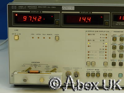 HP (Agilent) 4192A Impedance Analyser 5Hz - 13MHz (6)