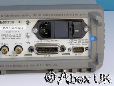 HP (Agilent) 34401A 6.5 Digit Bench DMM GPIB RS232 (1)