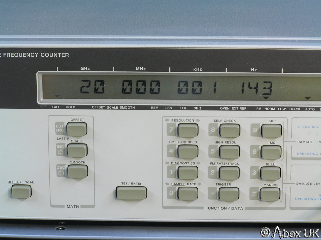 Agilent Frequency Counter : Hp agilent b ghz frequency counter