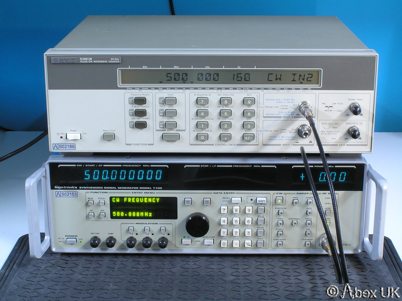 Hp Frequency Counter : Hp agilent b ghz cw pulse frequency counter
