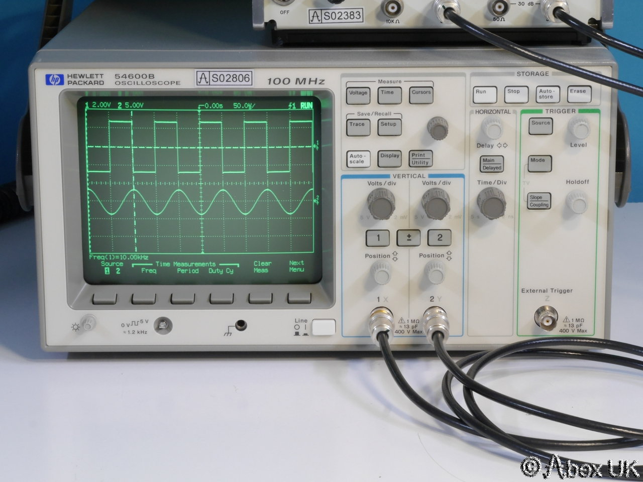 Hp Digital Oscilloscope : Hp agilent b dual channel mhz digital