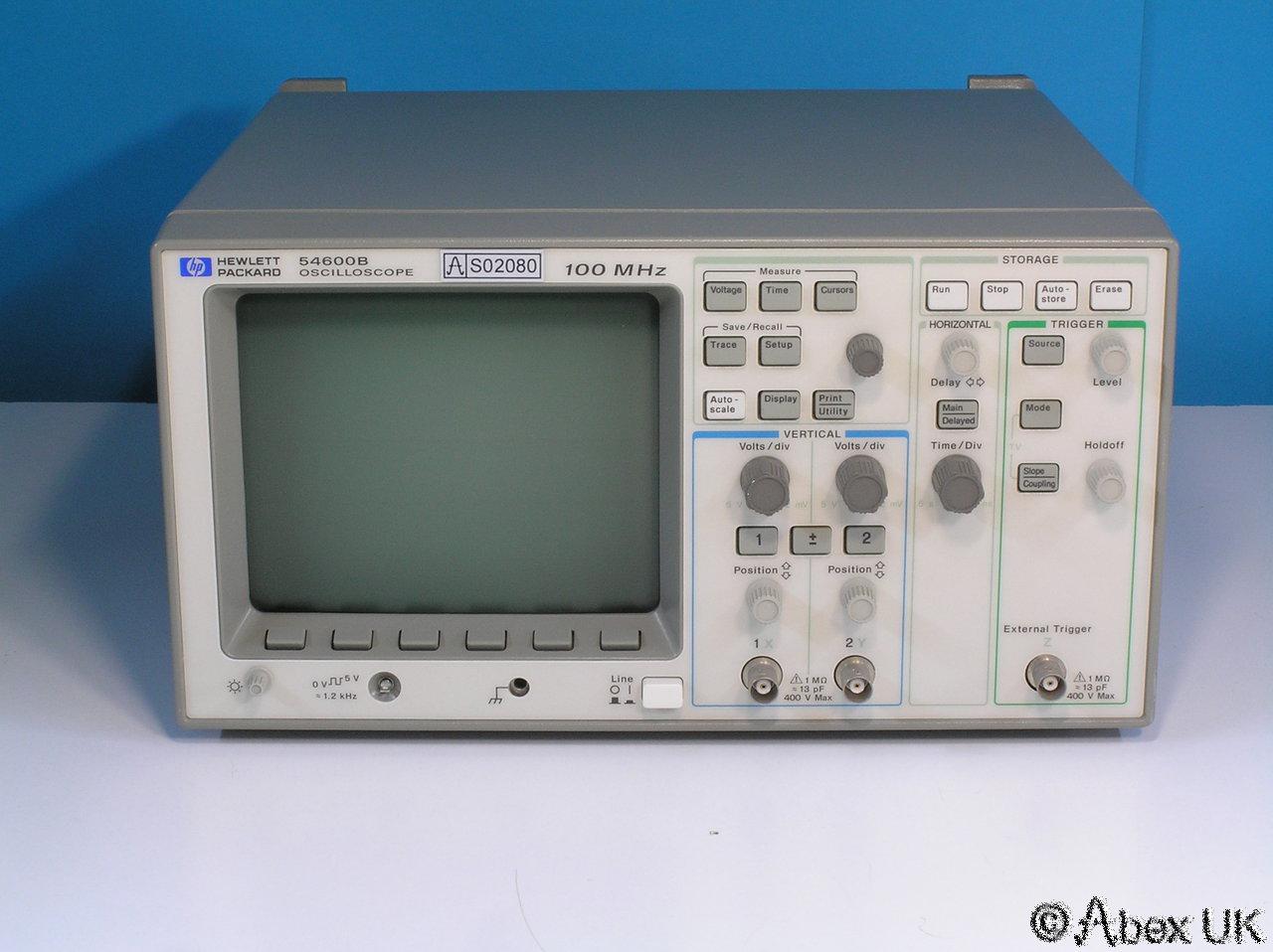 Oscilloscope Image Of B : Hp agilent b dual channel mhz digital