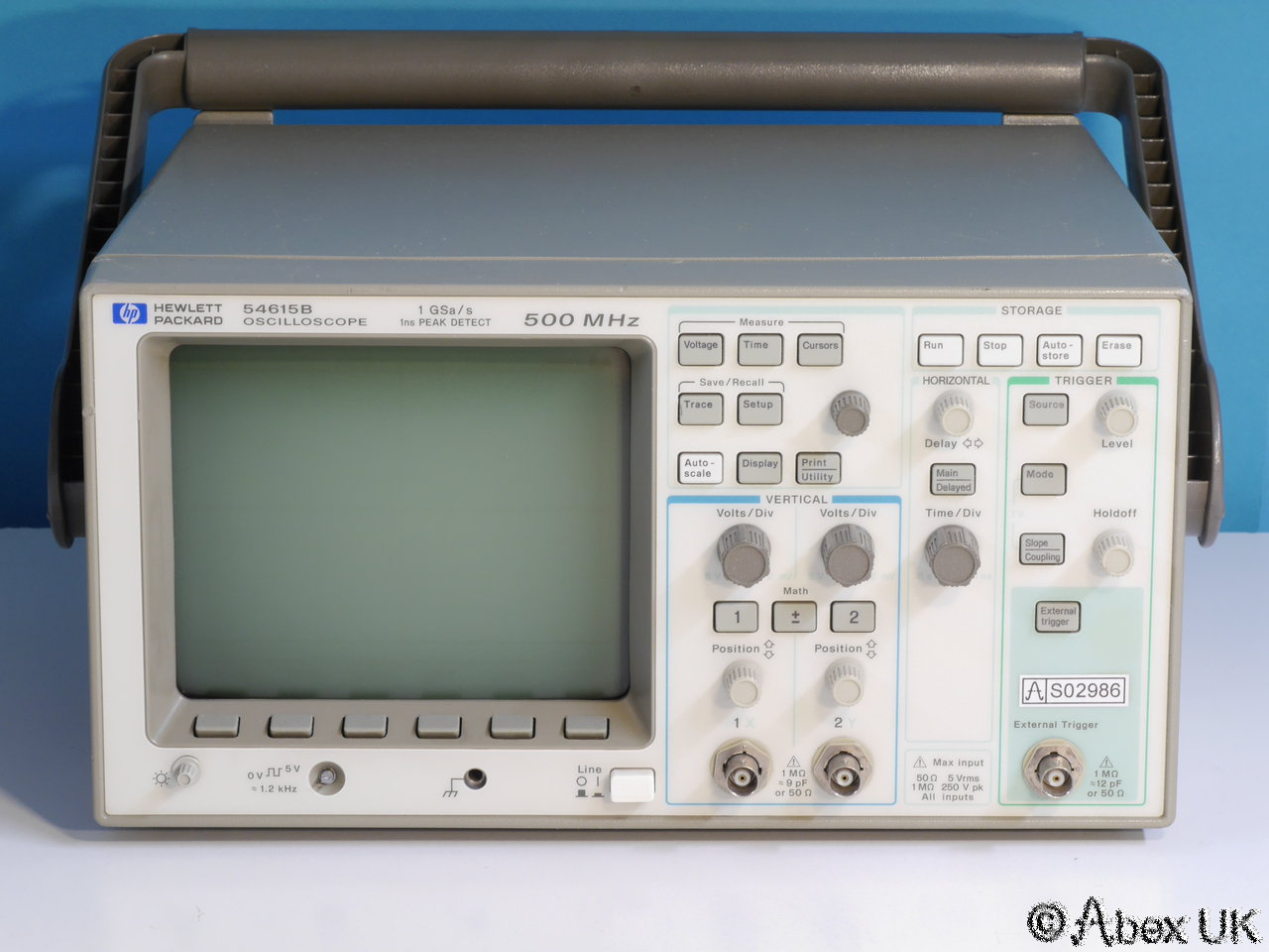 Hp Digital Oscilloscope : Hp agilent b dual channel mhz gs digital