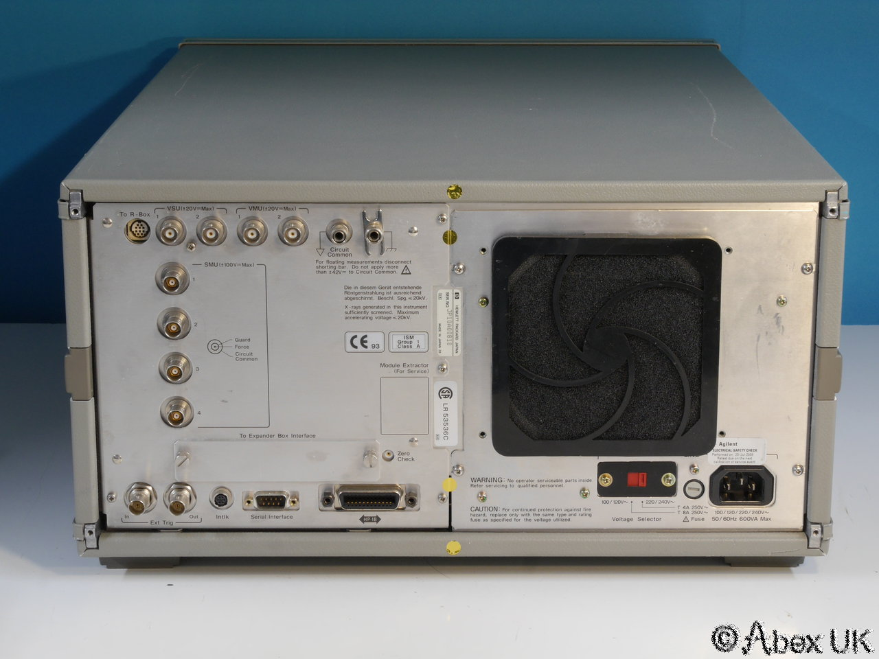 Hp Agilent 4155a Semiconductor Parameter Analyser Curve Tracer