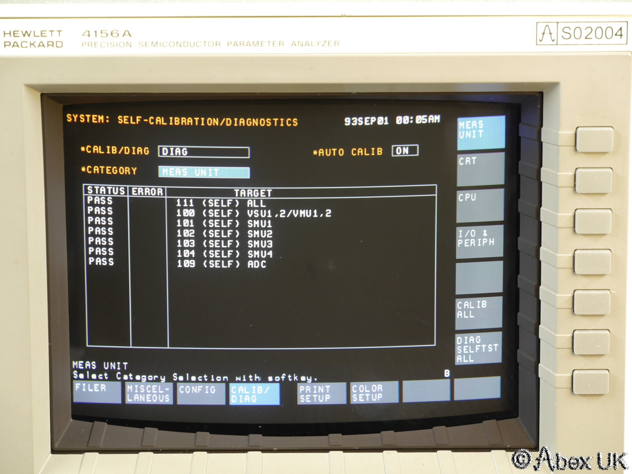 Hp Agilent 4156a Semiconductor Parameter Analyser Curve Tracer