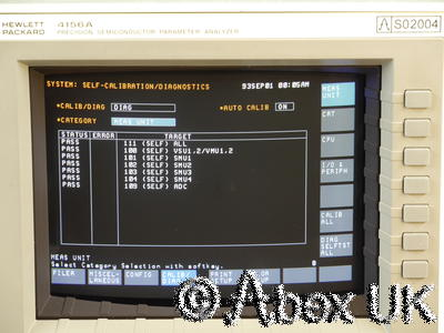HP (Agilent) 4156a Semiconductor Parameter Analyser (Curve Tracer)