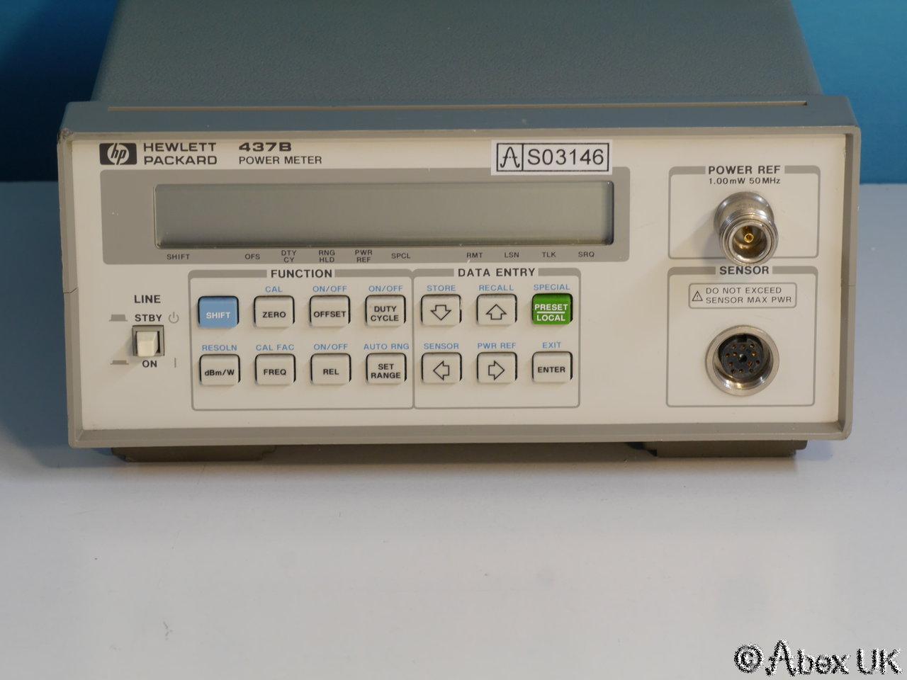 Hp Power Meter : Hp agilent b rf microwave power meter gpib