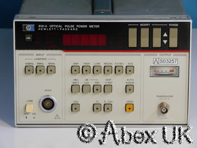 HP (Agilent) 8151A Optical Pulse Power Meter Spares or Repair