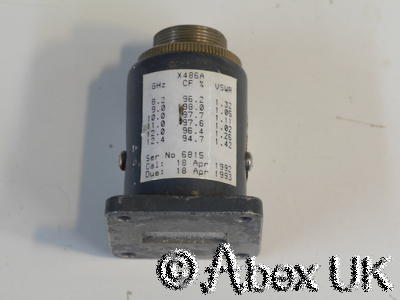HP (Agilent) X486A 8.2 - 12.4GHz 10mW WG16 Power Sensor for 432A/B Meter NOS (1)
