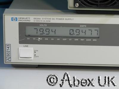 HP (Agilent) 6634A System Power Supply 0-100V 0-1A