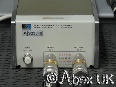 HP (Agilent) 8447E 0.1 - 1300MHz RF Pre-Amplifier Option 010 Type-N (2)