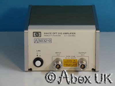 HP (Agilent) 8447E 0.1 - 1300MHz (2GHz) RF Pre-Amplifier Option 010 Type-N (6)