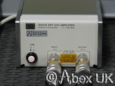 HP (Agilent) 8447E 0.1 - 1300MHz (2GHz) RF Pre-Amplifier Option 010 Type-N (8)
