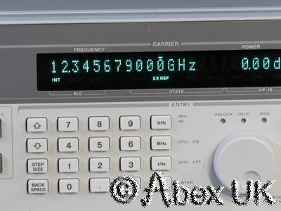 HP (Agilent) 83711A 1-20GHz Synthesised CW Signal Generator