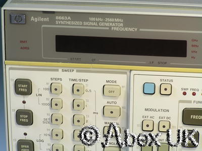 HP (Agilent) 8663A 2.5GHz Low Noise Signal Generator