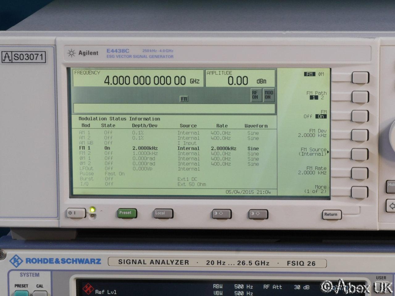 Agilent Signal Generator : Agilent hp e c ghz esg am fm pm pulse cdma vector
