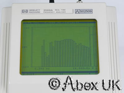 HP (Agilent) 3569A FFT Audio / Vibration Spectrum Analyser Opt AY2