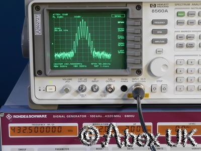 HP (Agilent) 8560A 2.9GHz Spectrum Analyser Analyzer GPIB