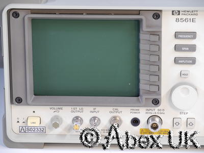 HP (Agilent) 8561E 6.5GHz Spectrum Analyser (325GHz*) FFT 1Hz