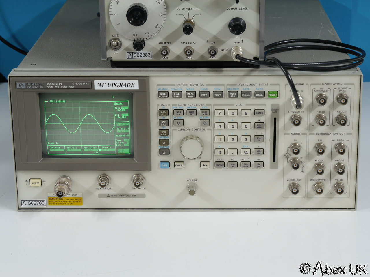 Hp Digital Oscilloscope : Hp h radio test set signal generator mod analyser