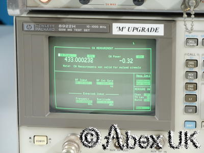 HP 8922H Radio Test Set Signal Generator Mod Analyser Digital Oscilloscope (1)