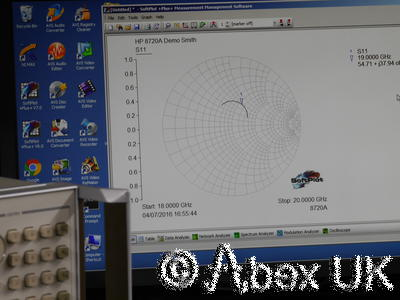 HP (Agilent) 8720A 20GHz Vector Network Analyser Option 001, 010