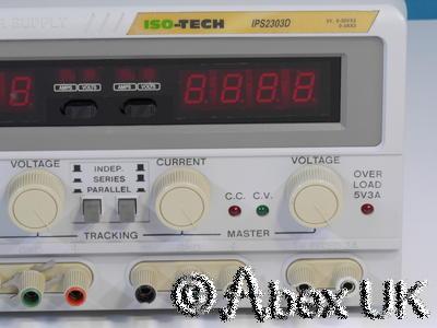 Iso Tech IPS2303D Triple Output Power Supply 0-30V 0-3A 5V 3A