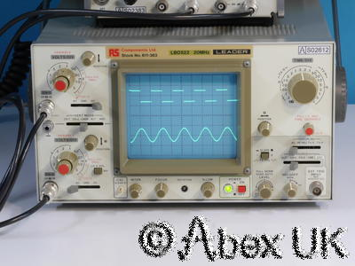 Leader LBO522 20MHz Dual Channel Analogue Oscilloscope (Beginner/Student Model)