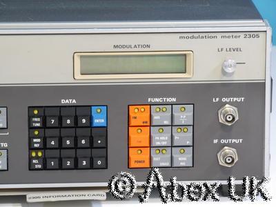 Marconi Instruments (IFR, Aeroflex) 2305 AM/FM 2.3GHz Modulation Meter (1)