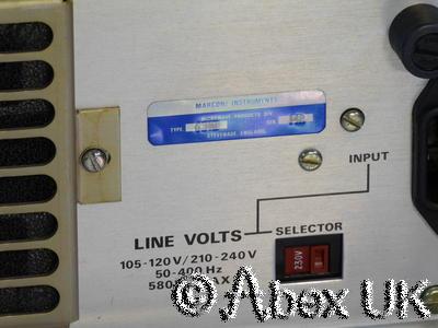 Marconi Instruments (IFR, Aeroflex) 6310 20GHz Sweep Signal Generator